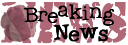 Breaking News and Speaking Engagements
